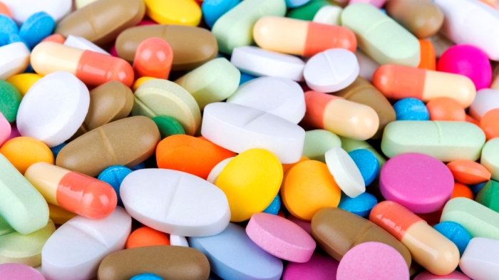 Colorful pile of pharmaceutical pills.
