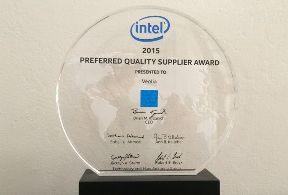 Veolia Receives Intel's Preferred Quality Supplier Award