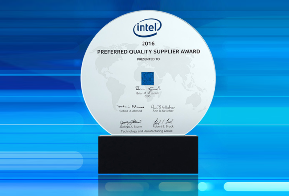 Intel Recognizes Veolia as a 2016 Preferred Quality Supplier (PQS) Award Winner